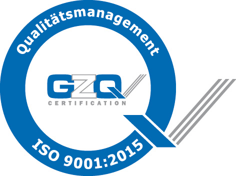 GZQ Siegel ISO 9001:2015 Qualitätsmanagement